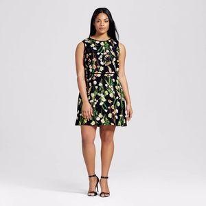 Victoria Beck X Target Floral Satin Dress